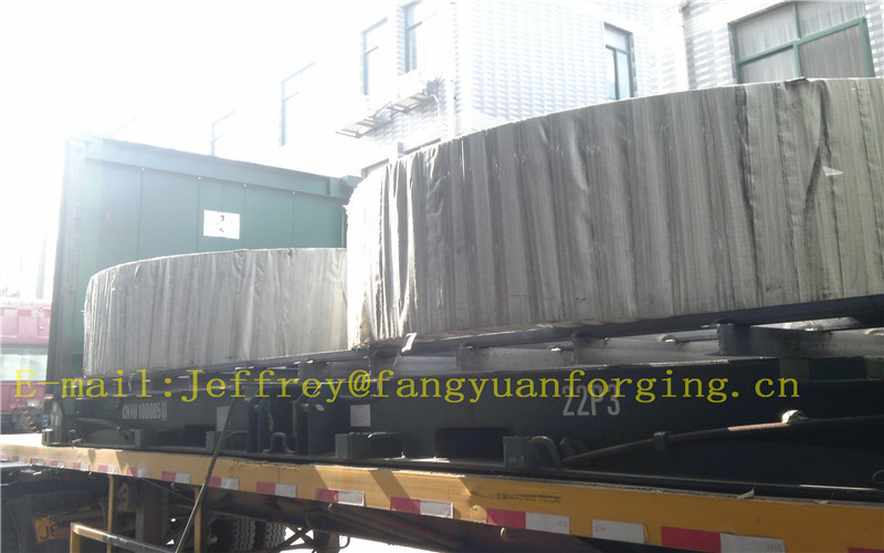 3.2um Ra Surface Finish Carbon Steel Forgings Ring Normalizing Proof Machining